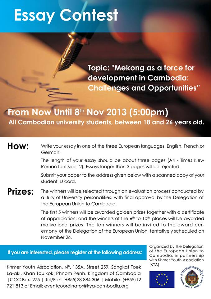 Political essay contest 2013