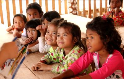 Children in the Coconuts Kirirom School